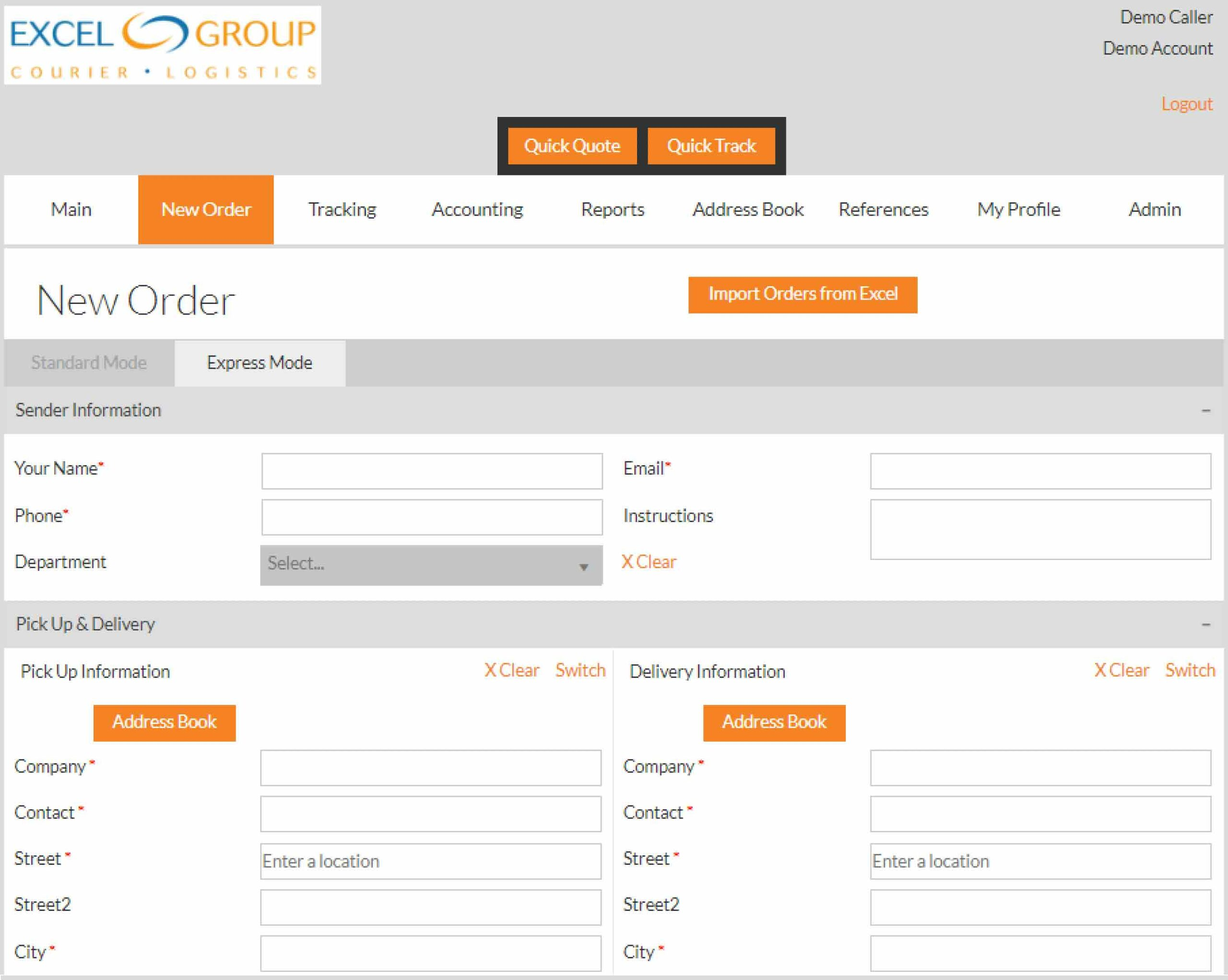 Excel Courier Web Portal Scaled