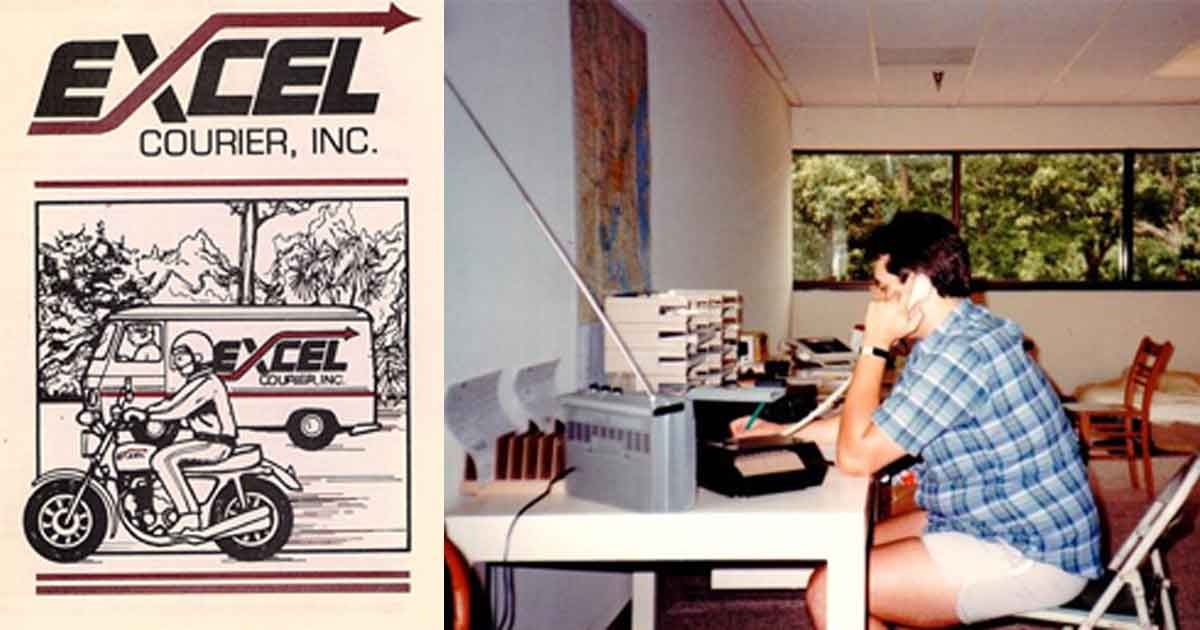 Excel Early Days Chris Marchetti at his desk