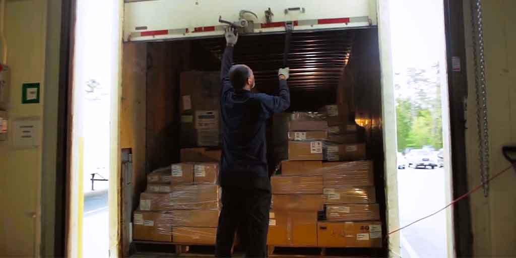 Loading a truck at Excel Courier