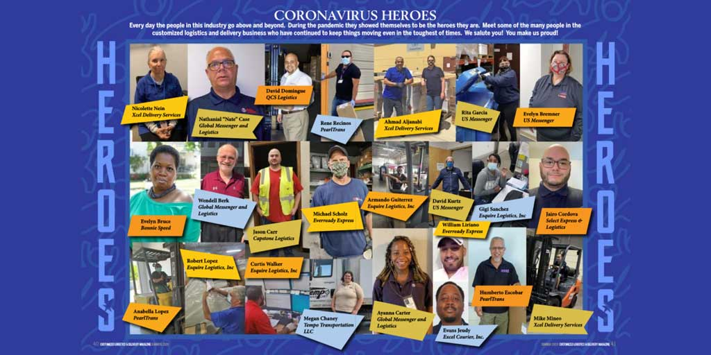Evens Jeudy, Excel Courier Driver, recognized as a COVID-19 hero by CLDA